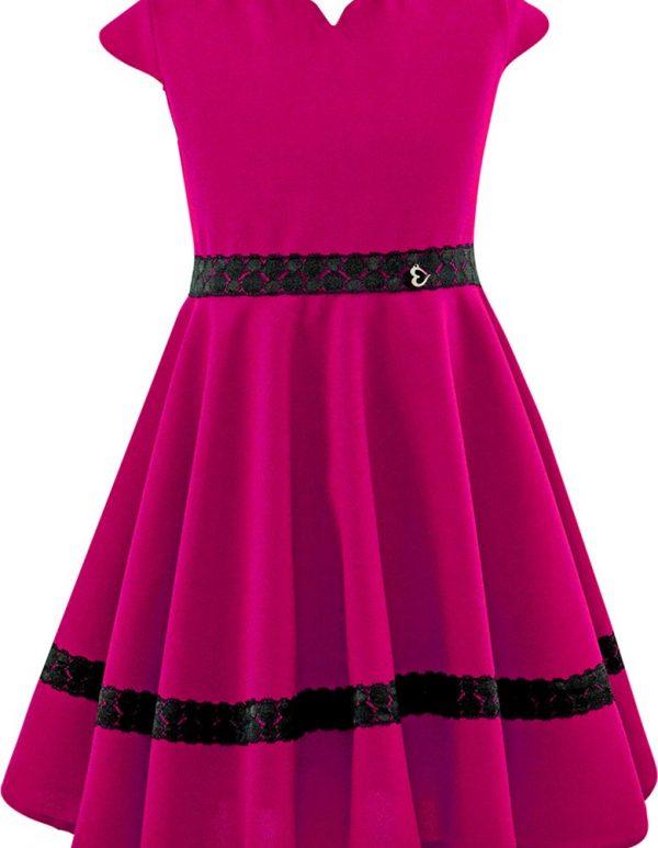 917c77f6ba Amarantowa sukienka z zawieszką EMMA