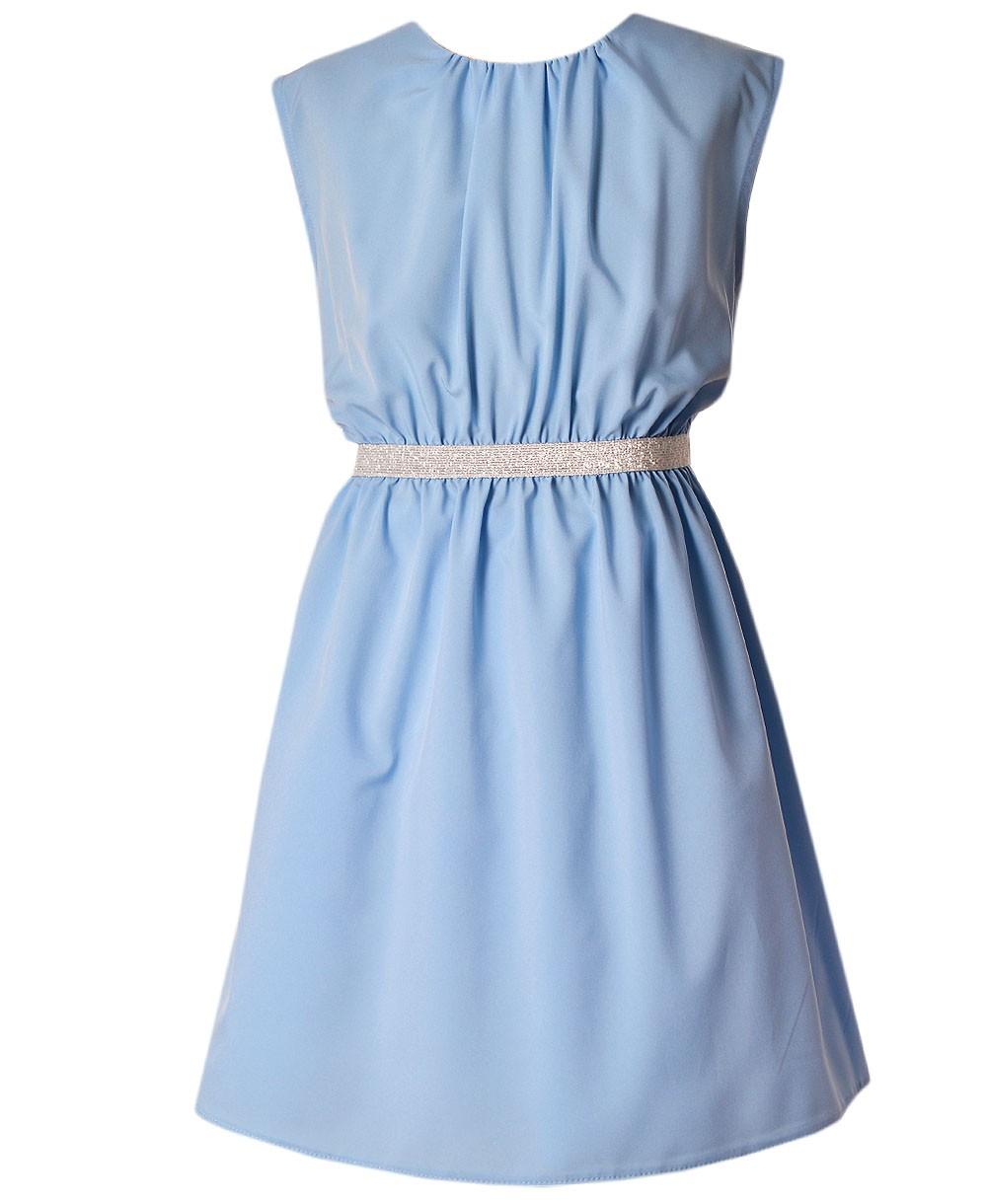 Sukienka Roma Niebieska Emma Polska Marka Odzieży Dziecięcej