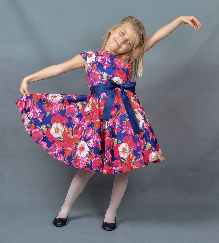 08a66ce8f2 Sukienka Alyssa kolorowe kwiaty - EMMA Polska Marka Odzieży Dziecięcej