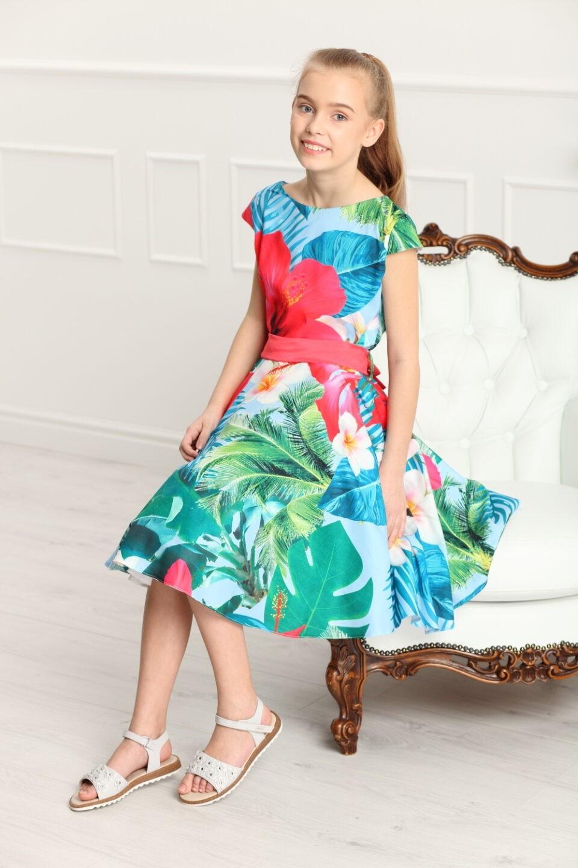 a1a0de57d8 Sukienka Alyssa hawajskie kwiaty - EMMA Polska Marka Odzieży Dziecięcej